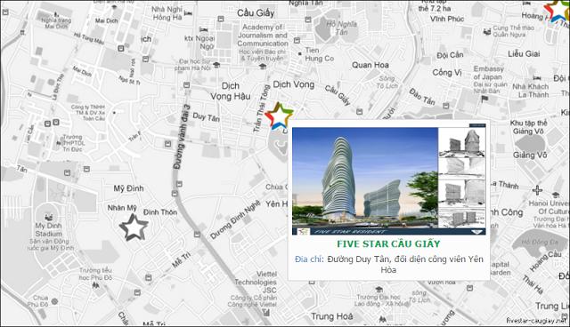 Vị trí chung cư Five Star Cầu Giấy