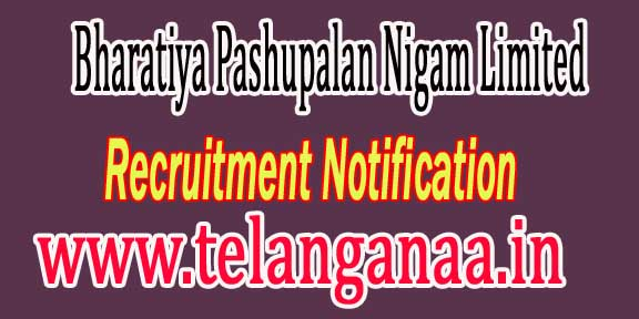 BPNL (Bharatiya Pashupalan Nigam Limited) Recruitment Notification 2016
