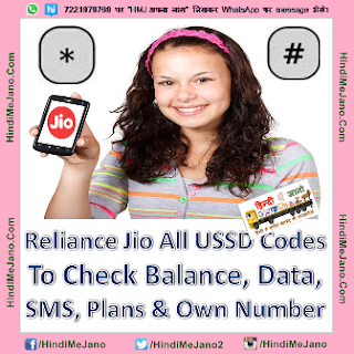 Tags- Reliance Jio USSD Codes list, jio USSD Codes to check balance & data, how to check jio mobile number code, how to check jio sim number, jio number check USSD codes, USSD codes to check data balance, how to check Jio data plans, how to check Tariff plans, reliance jio USSD Codes for checking data plans, what is USSD Code,