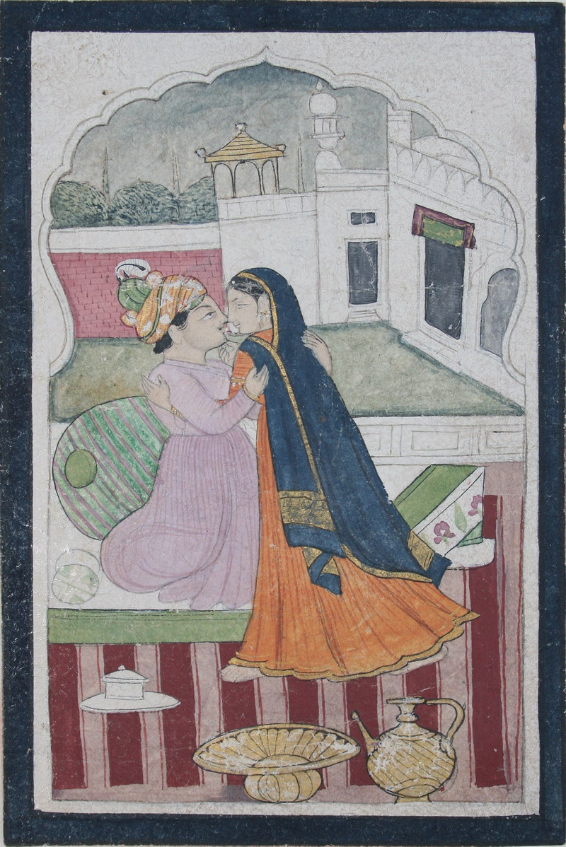 Prince Embracing a Lady - Guler School c1830