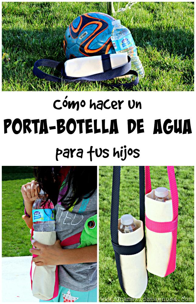 Cómo hacer un porta-botellas de agua para tus hijos