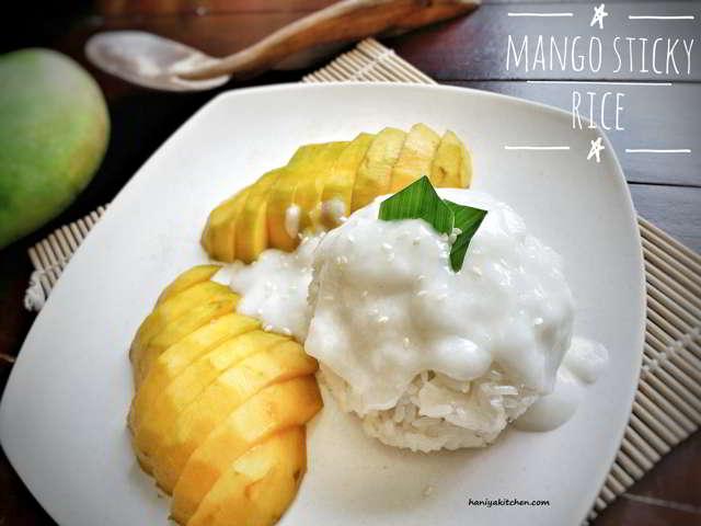 Resep Mango Sticky Rice (Ketan Mangga) Khas Thailand