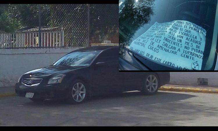 Abandonan vehículo con tres ejecutados y narcomensaje en Chihuahua