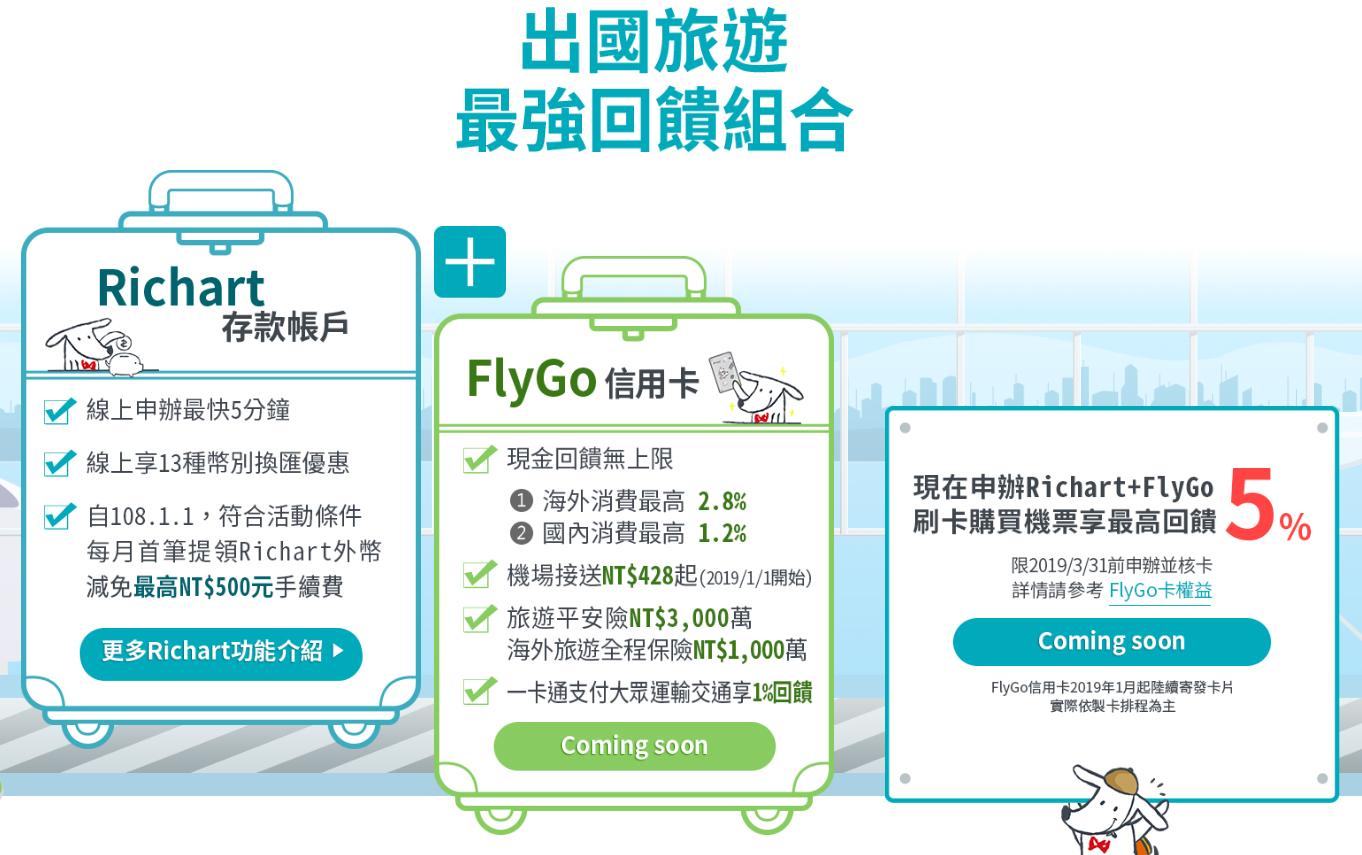 【信用卡快評】臺新FlyGo卡-2019年必備現金回饋神卡之一!