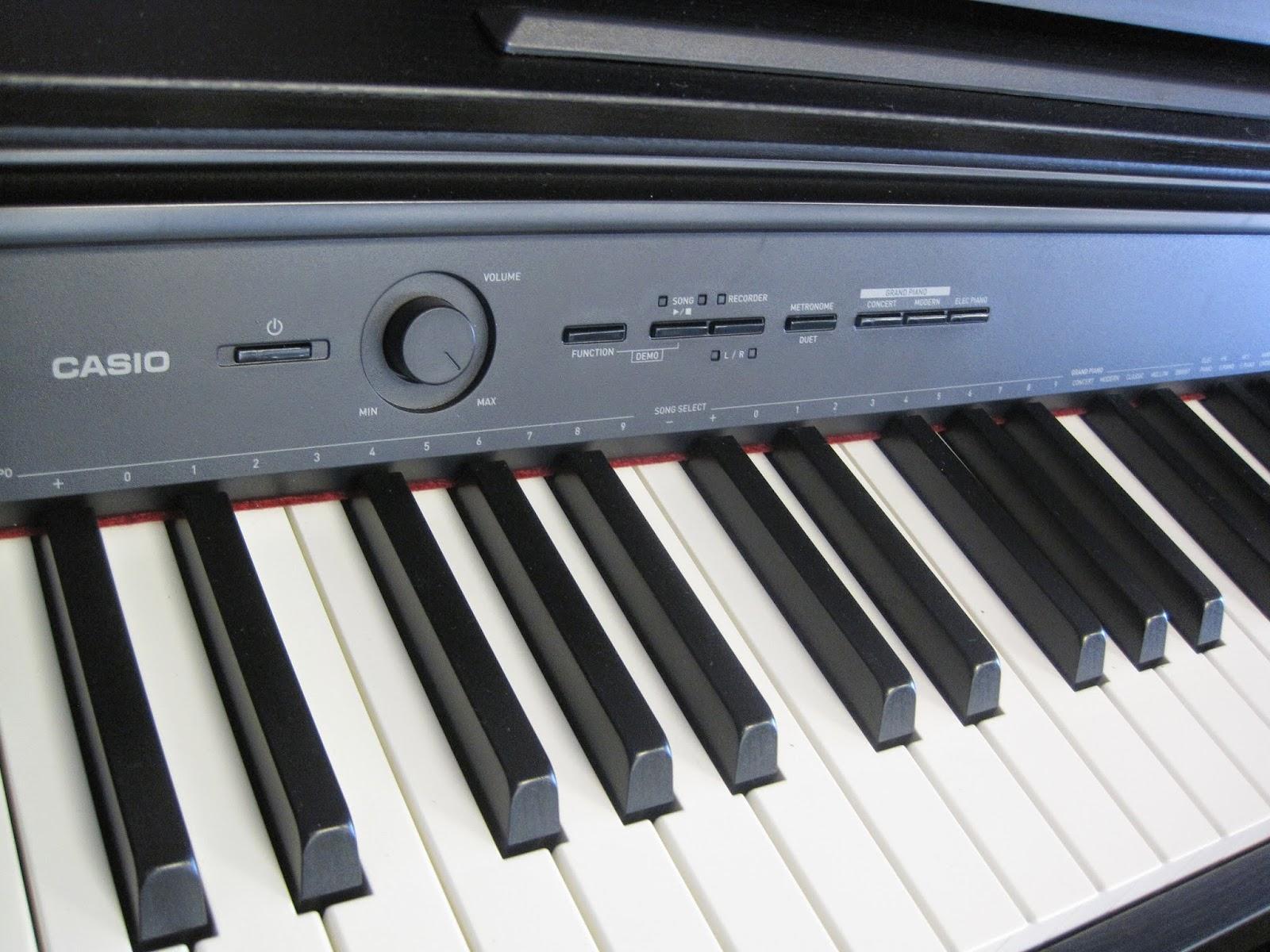 Casio AP250 digital piano control panel