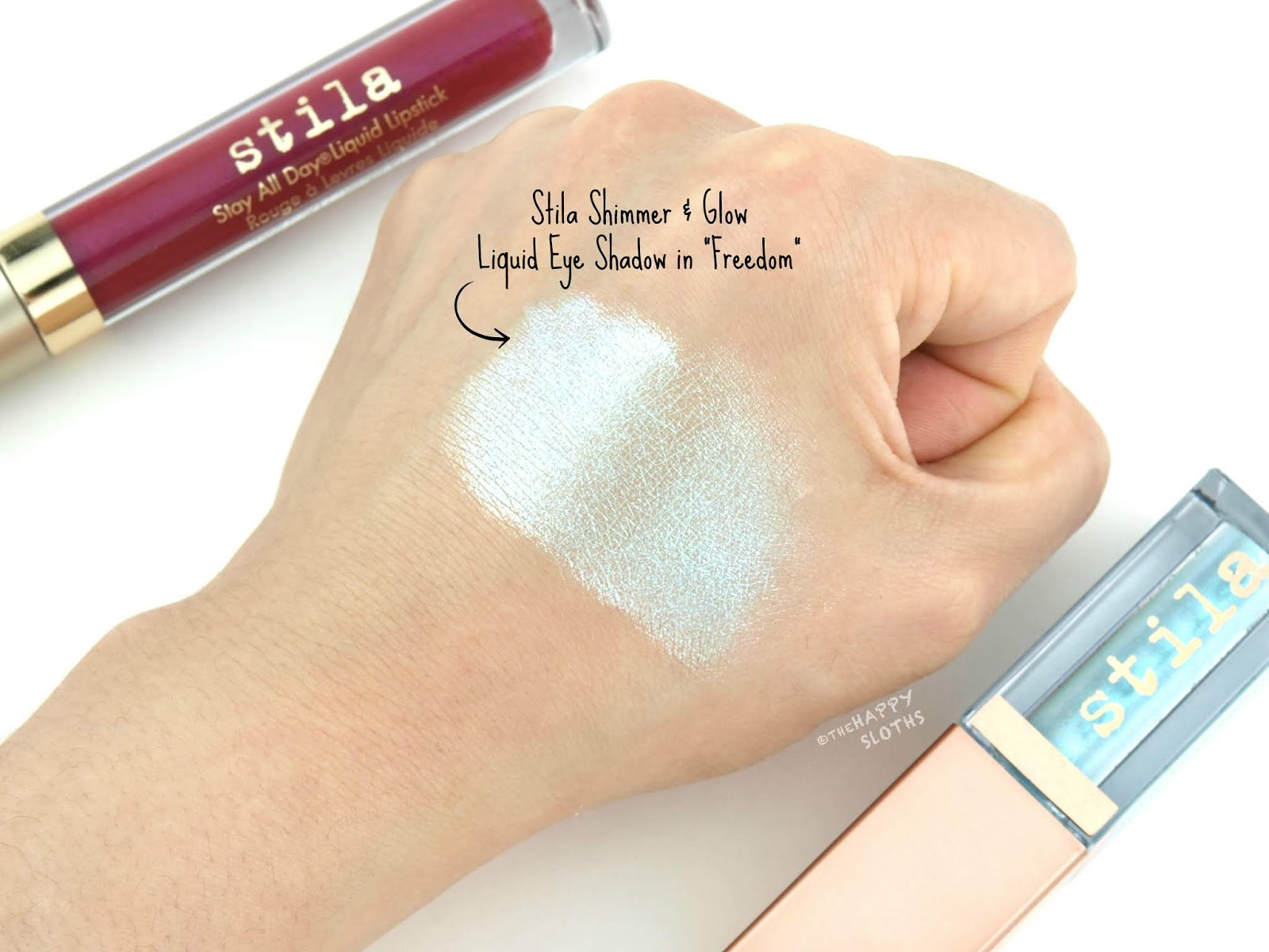 "Stila | Summer 2018 Shimmer & Glow Liquid Eye Shadow in ""Freedom"": Review and Swatches"