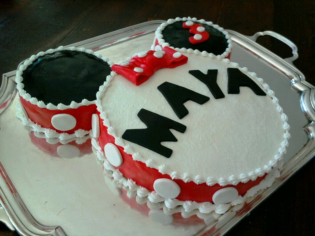 AimeeJo Desserts Mayas 3rd Birthday Cake Minnie Mouse