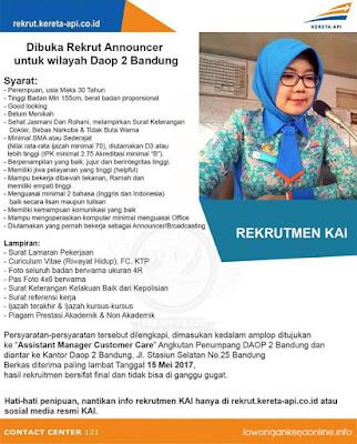 Lowongan Kerja PT. KAI (Kereta Api Indonesia)