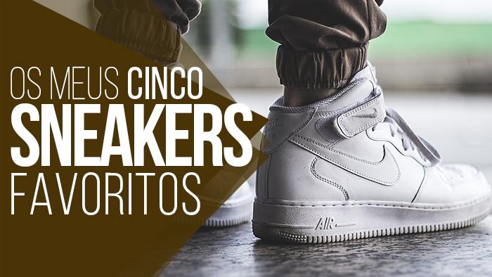 43042518235  02 - Sneaker Zara (comentei mais sobre ele AQUI)  03 - Nike Air Force 1  Mid 07 All White  04 - BANG The Cooper Camo (Clique AQUI para ver o Review)