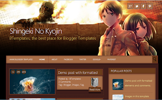 Download Template for Blogger Shingeki No Kyojin