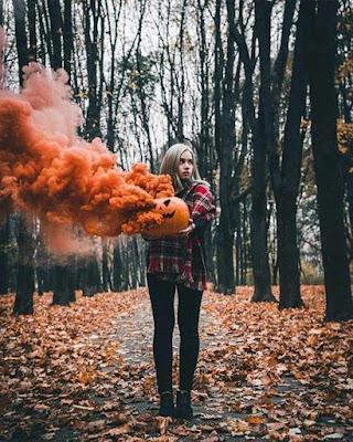foto tumblr con humo de color