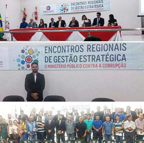 Vereador de Chapadinha, Alberto Carlos, em evento regional contra a corrupção