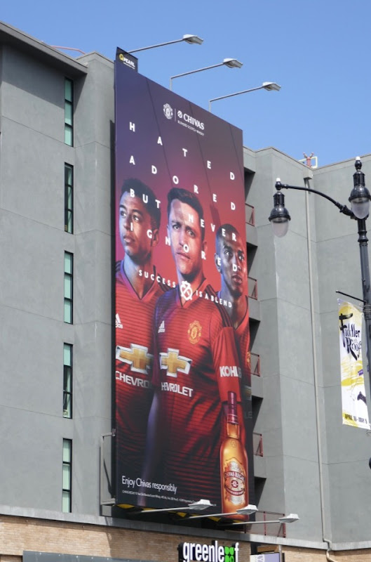 Chivas Scotch Man United billboard
