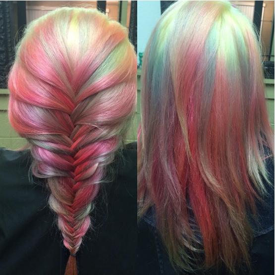 Colores pastel.