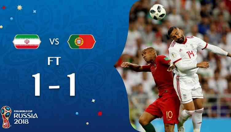 Hasil Iran vs Portugal Skor Akhir 1-1 | Fase Group B World Cup 2018