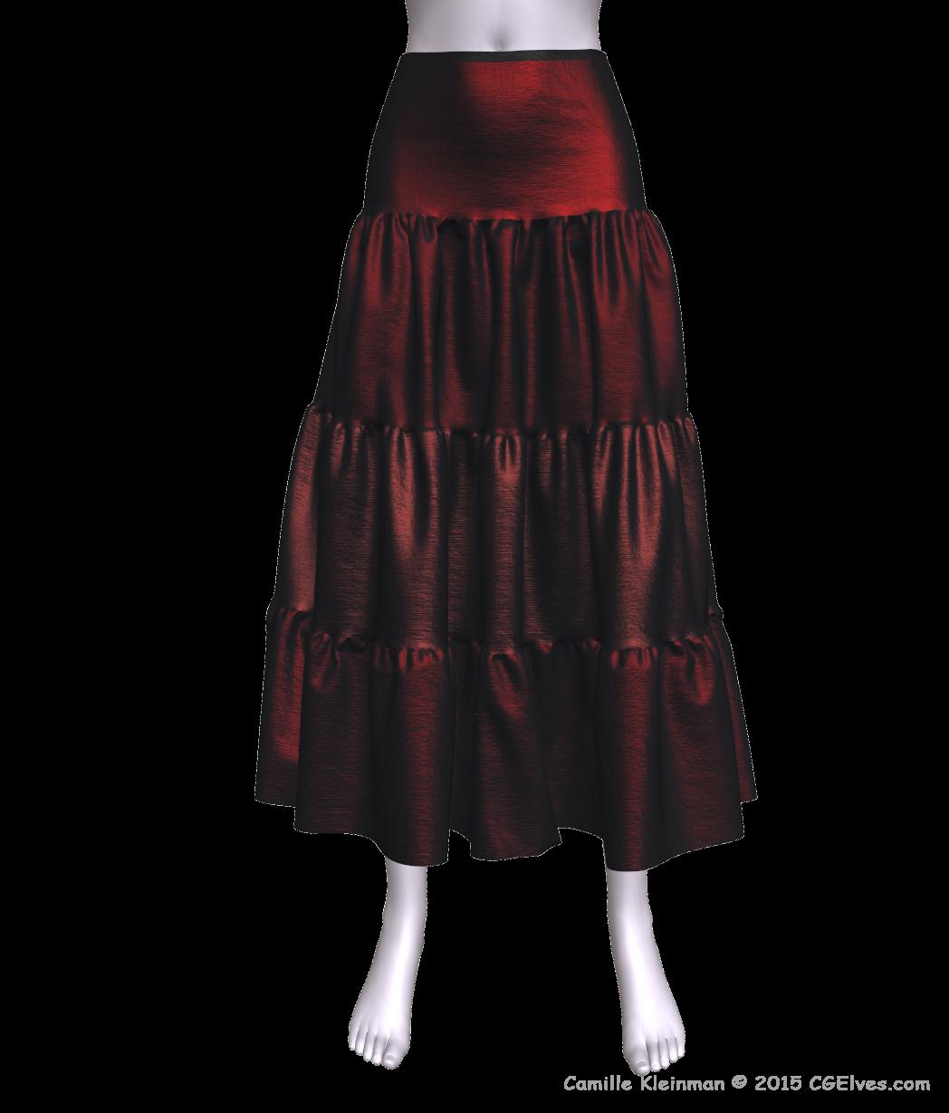 Lovely 3d Dynamic Marvelous Designer Skirt - coming from the