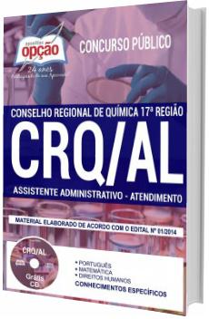 Apostila Concurso CRQ-AL 2018 Assistente Administrativo - Atendimento