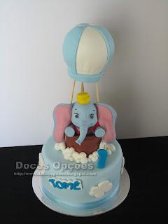 bolo aniversário disney dumbo elefante bragança