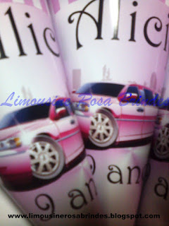 cone de guloseimas limousine rosa, limousine rosa, brinde limousine rosa, lembrancinha limousine rosa, tema limousine rosa