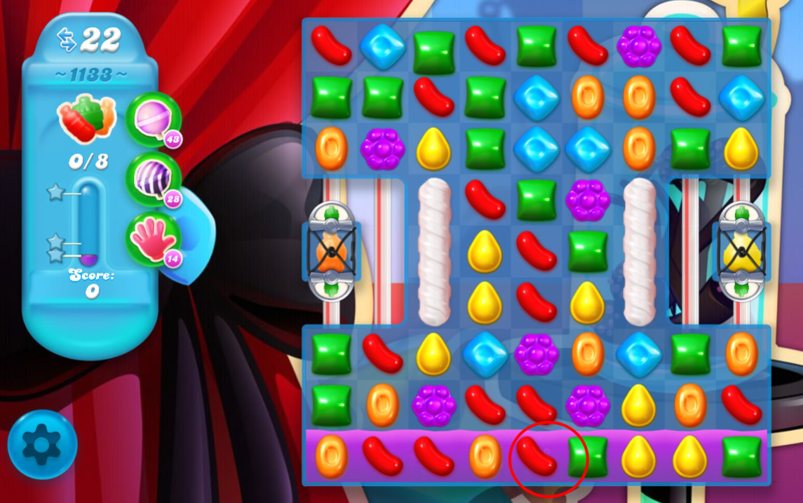 Candy Crush Soda Saga level 1133