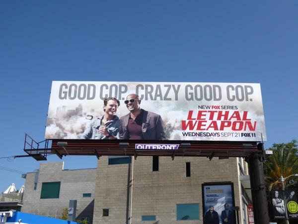 Lethal Weapon TV remake billboard