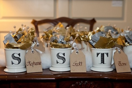 DIY wedding favors CandyFilled Mugs