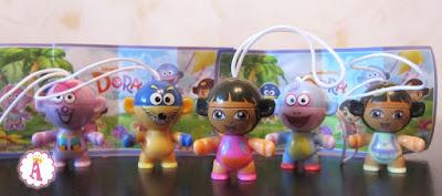 Коллекция игрушек из серии киндеров Дора Следопыт