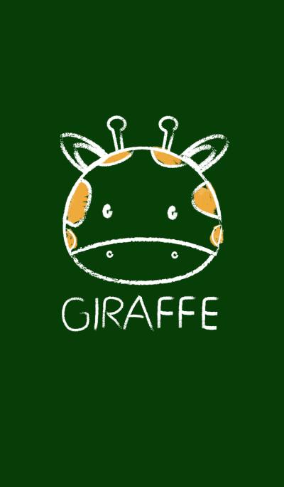 Simple Giraffe on a Blackboard theme(jp)