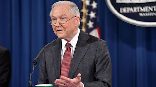 Attorney General Jeff Sessions at a press conference