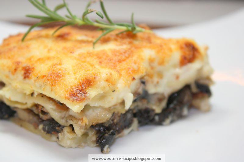 Western Food Recipe: Artichoke and Portobello Mushroom Lasagna