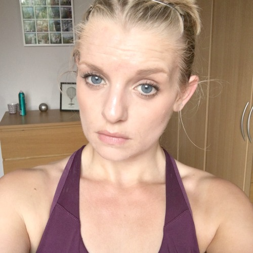 sweaty yoga face