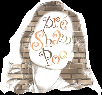 """Mulher com o texto """"Pré-Shampoo"""" estampado no rosto. O que é pré-shampoo? Como funciona? Tem receita caseira para pré-poo? Pode ser feito em casa?"""