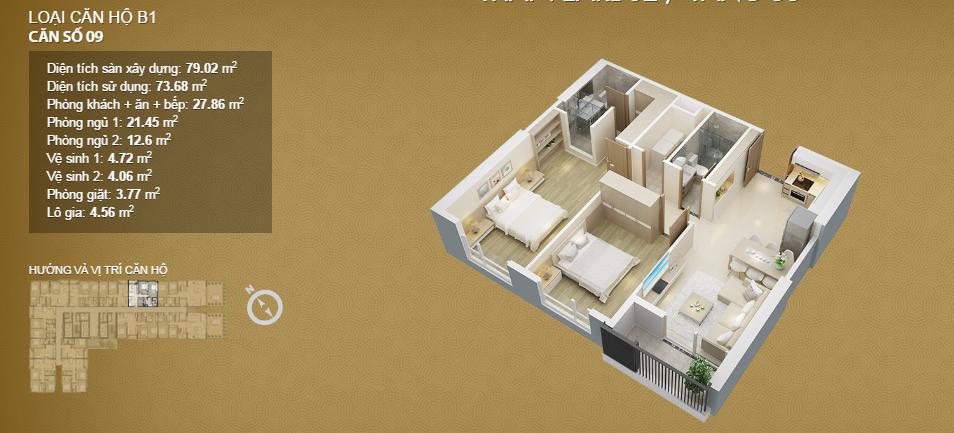 Căn hộ 09 tầng 33
