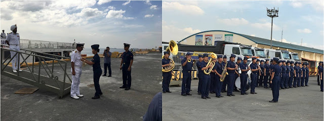 Indian Ship Welcomed By The Philippine Coast Guard As They Enter Manila Port For A Goodwill Visit!