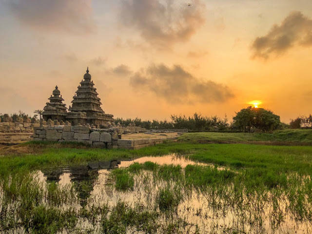 shore temple mahabalipuram sunrise photo