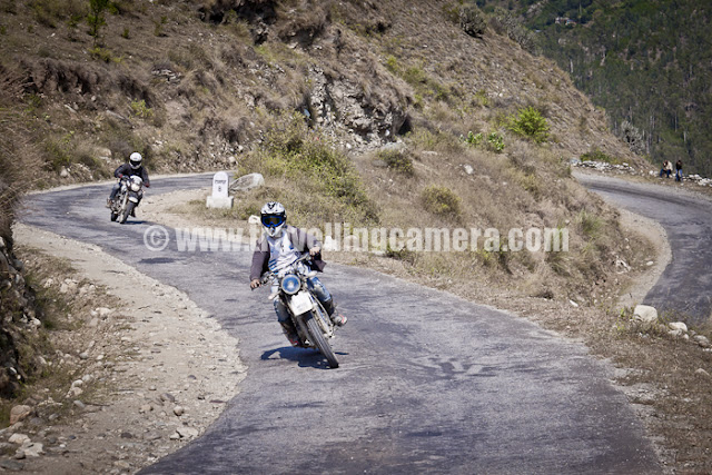 Mountain Terrain Biking, Himachal Pradesh 2011 - Day 3 - Tani Jubber to  Kullu Sarhan : Bike Marshals are done with their job of ensuring that all the riders have left from Starting point and moving towards next stage...