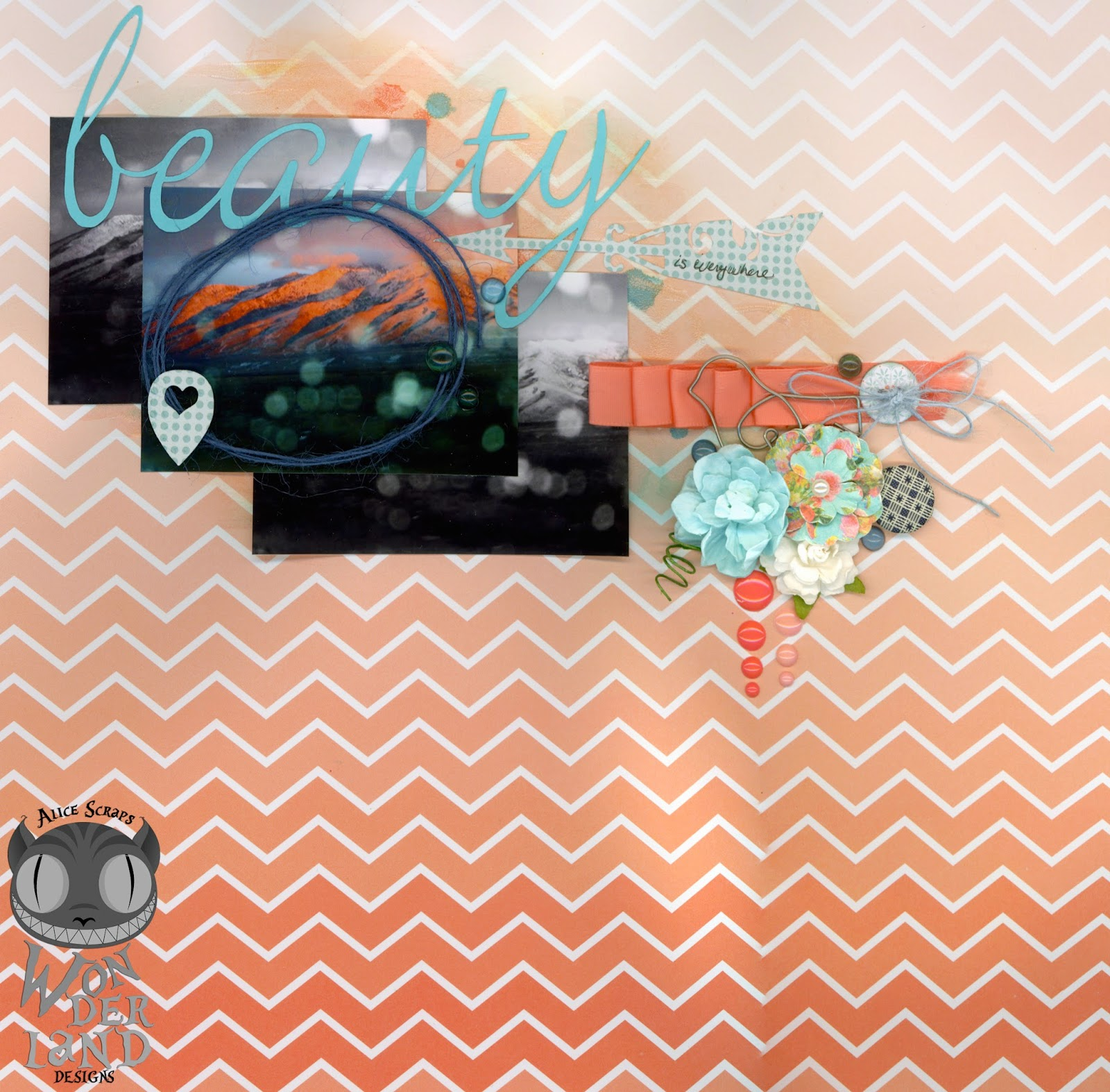 Beauty is Everywhere | Scrapbook Layout by Alice Scraps Wonderland