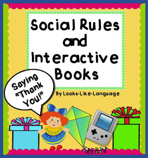 Saying thank you is so important! Get this adapted book at Looks Like Language!