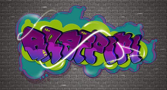 Create a Cartoon-Style Graffiti Text Effect