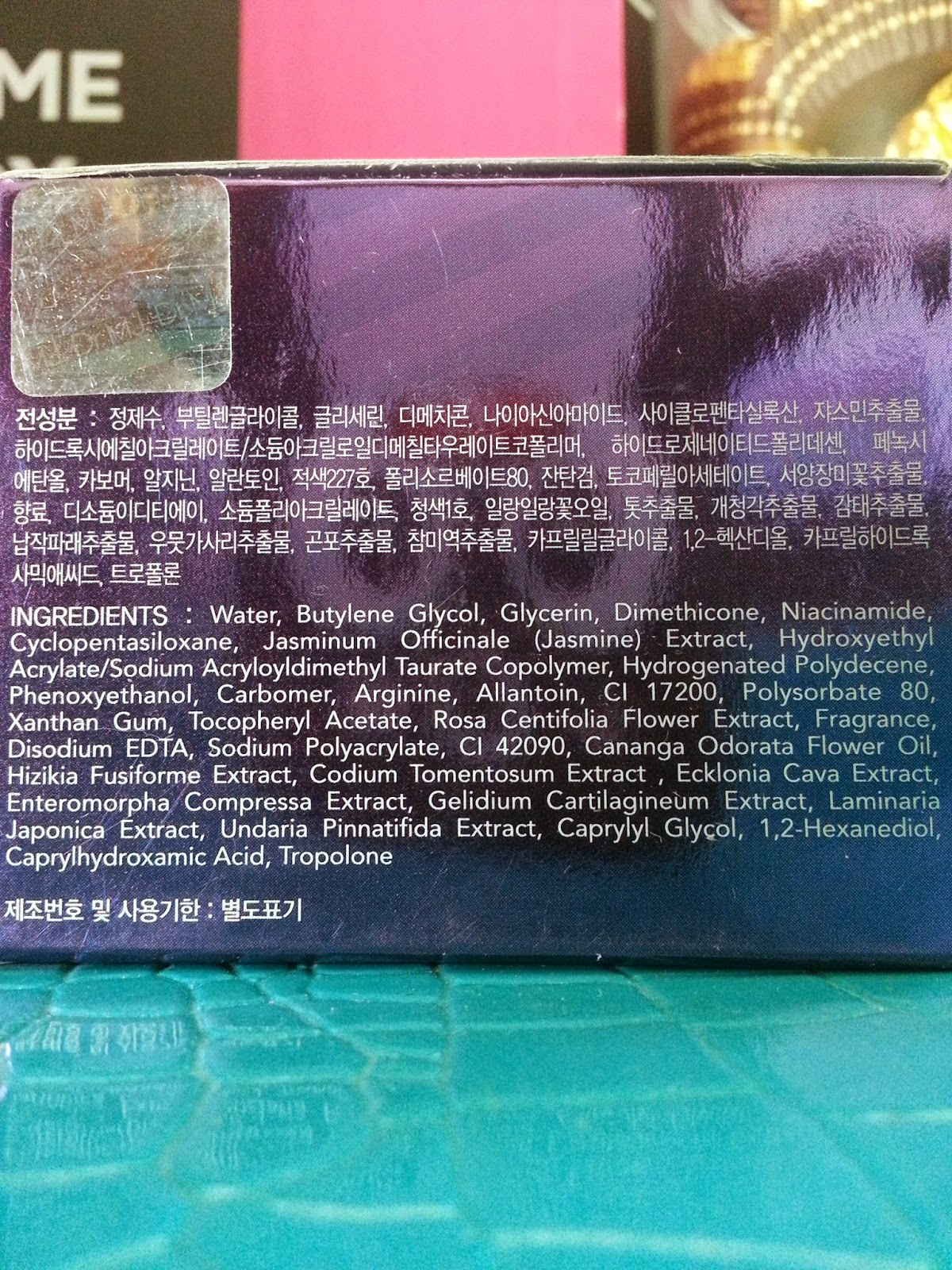 Dr. MJ Jasmine Sleeping Water Mask ingredients