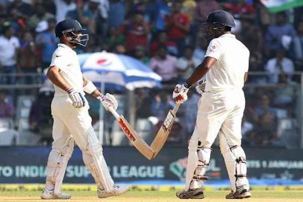 मुंबई टेस्ट: भारत ने बनाए 631 रन, कोहली ने जड़ा दोहरा शतक