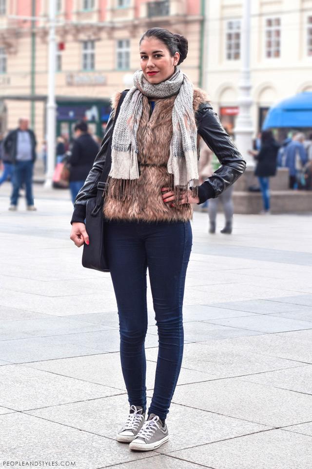 Kristina Zelić latest street winter 2014 fashion