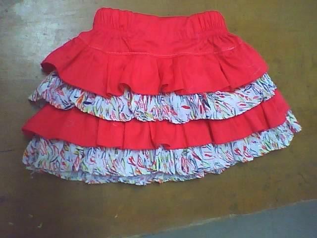 diseño de falda con boleros de varias piezas infantil