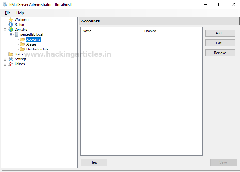 How to Setup Mail Server for Penetration Testing using hMail