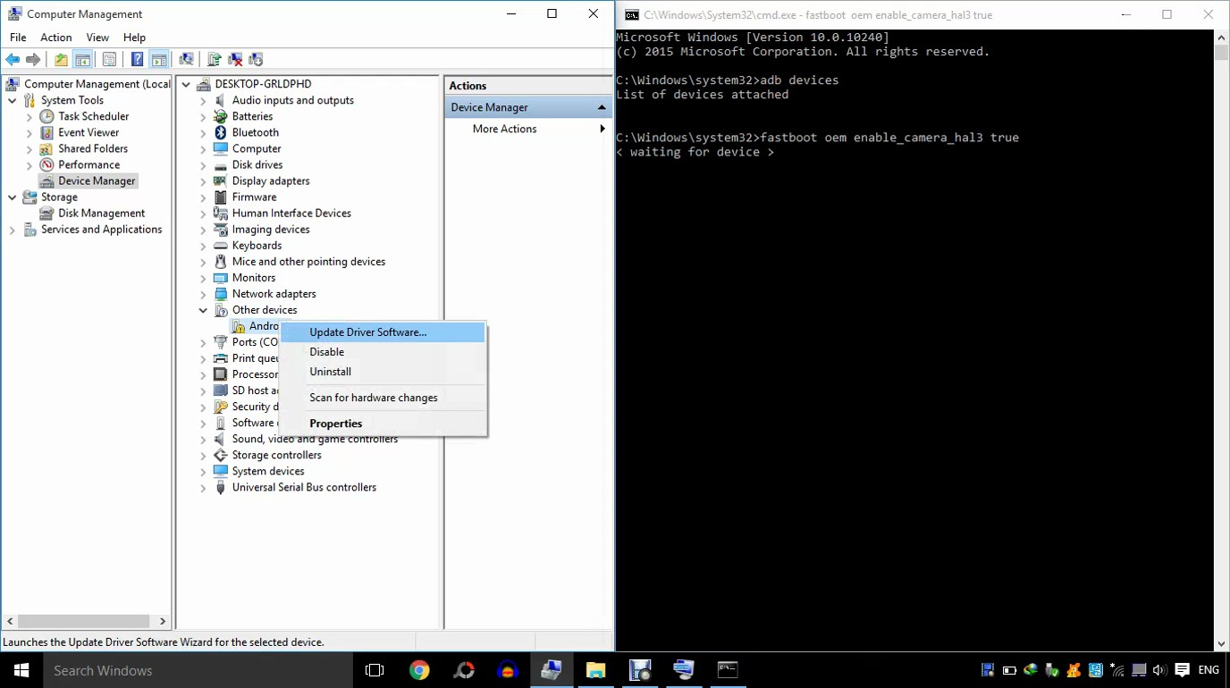 Waiting for Device Problem while Enabling Camera2Api [Solved