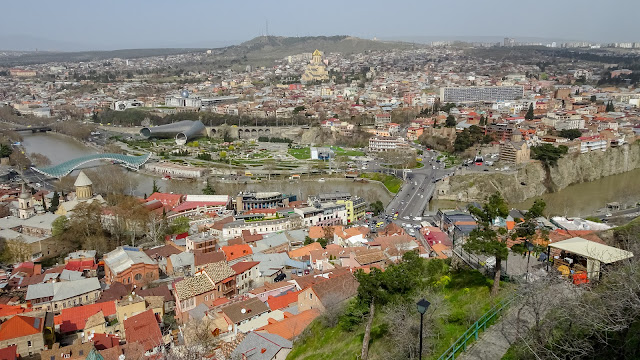 View over Tbilisi from Narikala Fortress