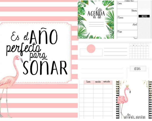 agendas, imprimir, pdf, powerpoint, editar, planificadores, descargar