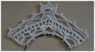 free crochet baby girl tiara pattern