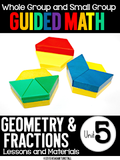 https://www.teacherspayteachers.com/Product/Guided-Math-Lessons-First-Grade-Unit-5-Geometry-and-Fractions-2157322