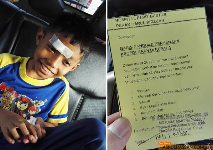 Bahaya Jika Anak Cedera di Kepala - Ambil Perhatian Garis Panduan Ini